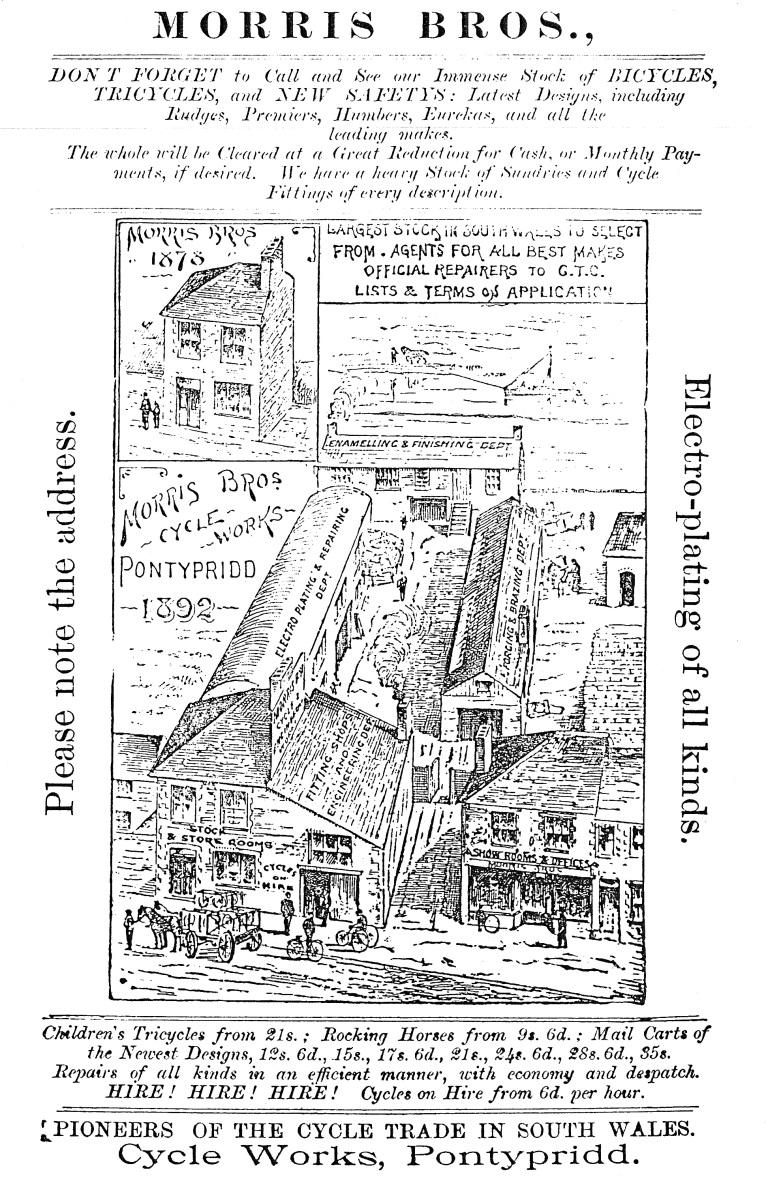 Morris Bros, Advert, 1893
