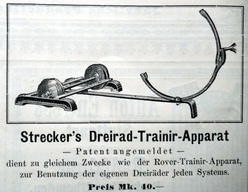 Strecker's Dreirad Trainier-Apparat