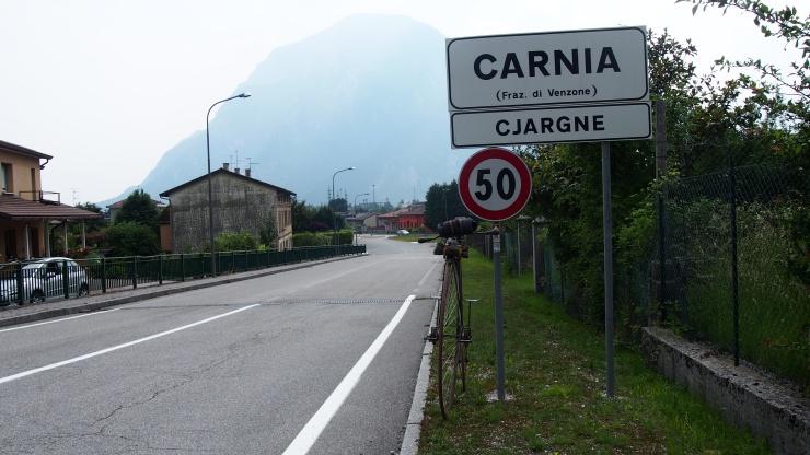 Carnia - nicht viel los, aber ein intakter Bahnhof